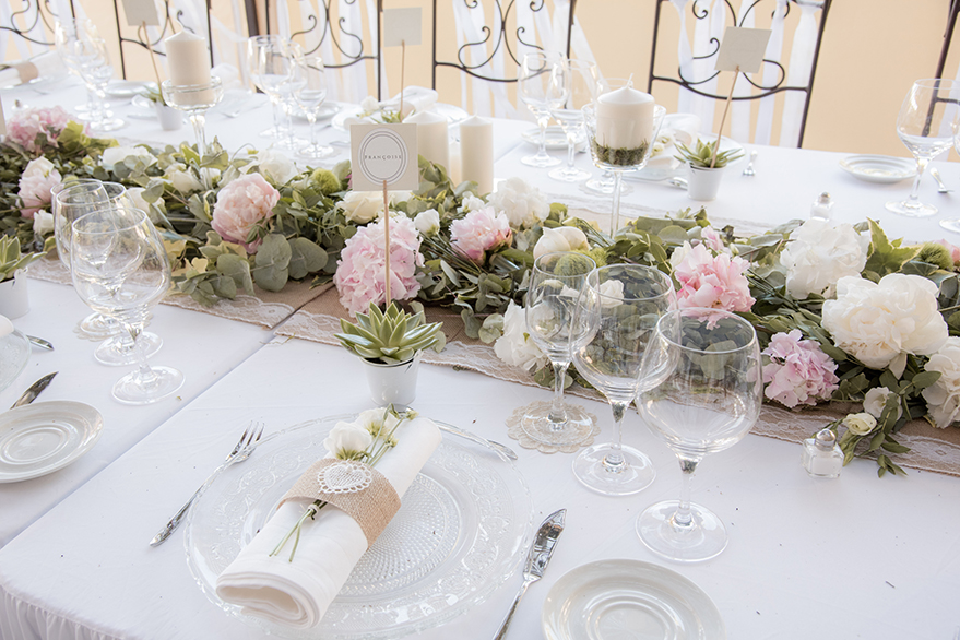 Table Mariage Provence Dcoration Fleur