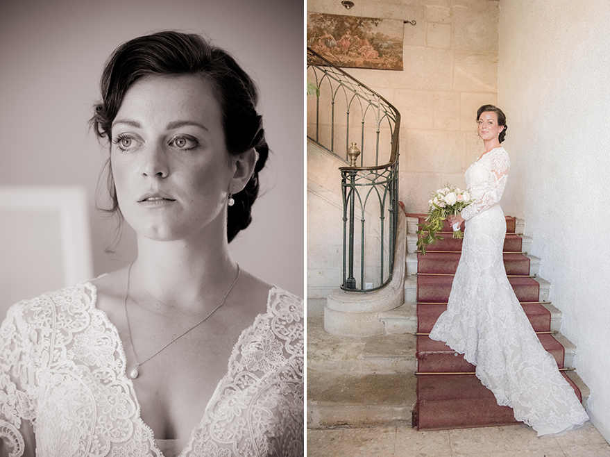 Marie Robe Mariage Bouquet